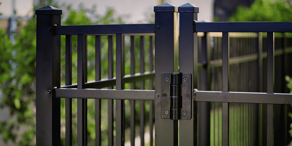 Aluminum fencing is made up of pieces that are designed to work as part of a whole