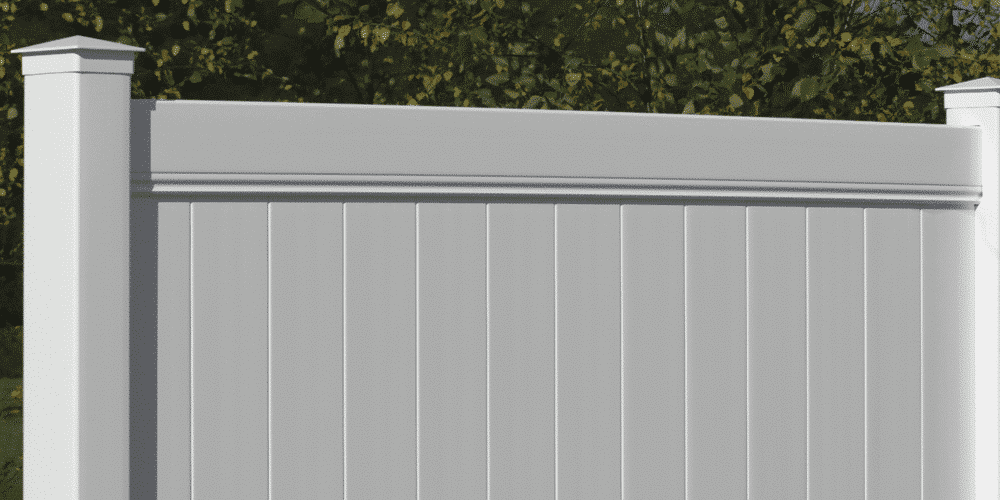 White Chesterfield fence